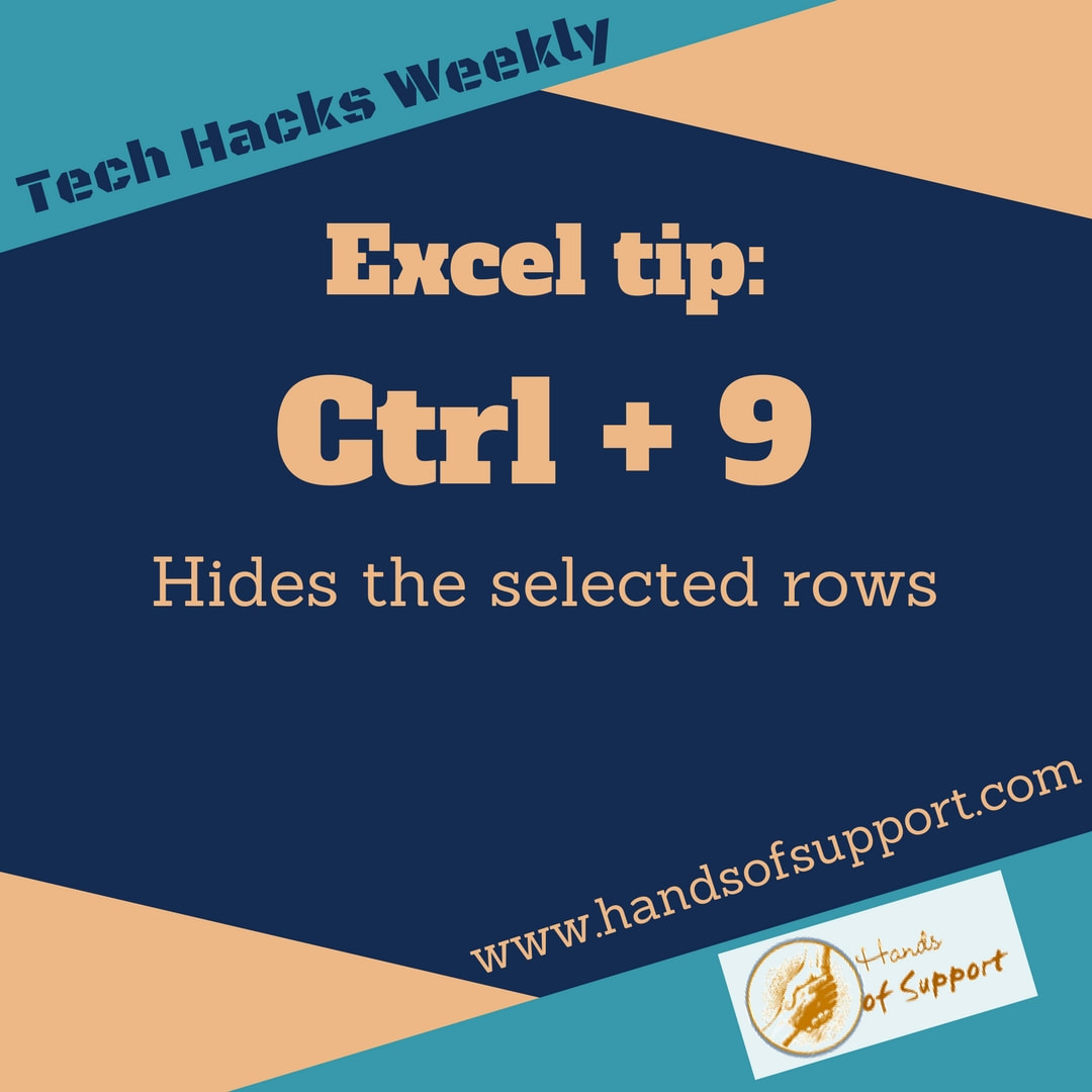 Excel tip to hide rows